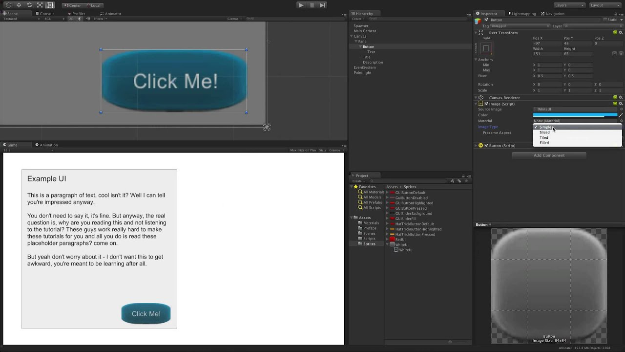 UI Image - Unity Official Tutorials