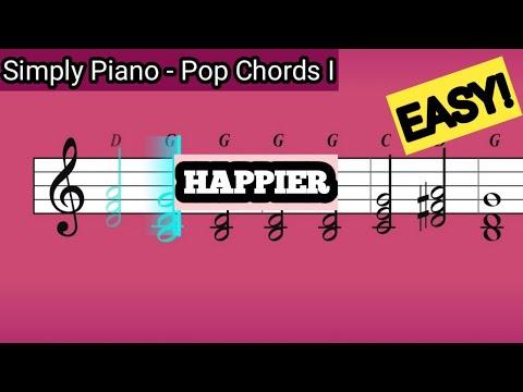 Simply Piano| Happier |Pop Chords I |Piano Tutorial