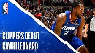 Kawhi Shows Out In Clippers Debut | Oct. 22, 2019