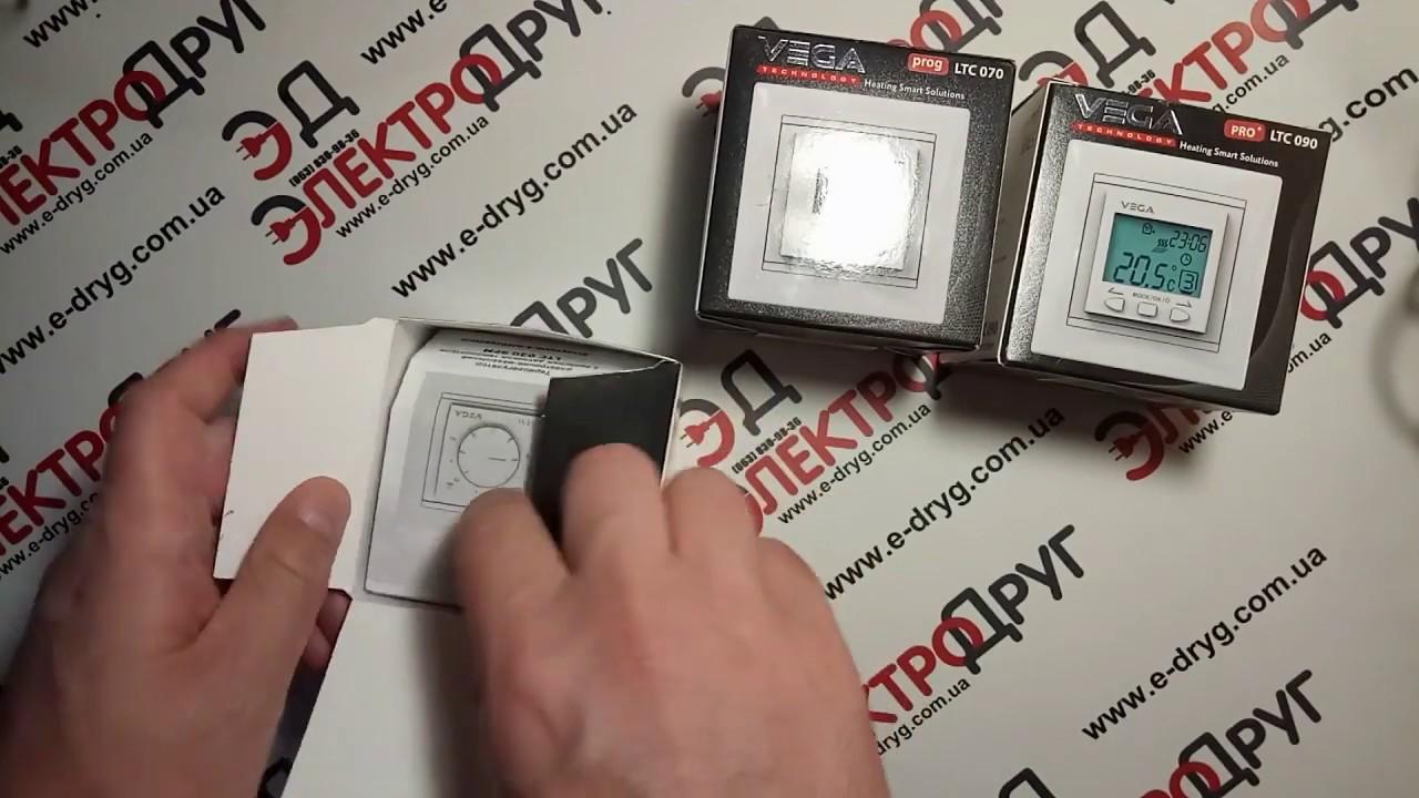Новинка | Терморегуляторы для теплого пола Vega LTC