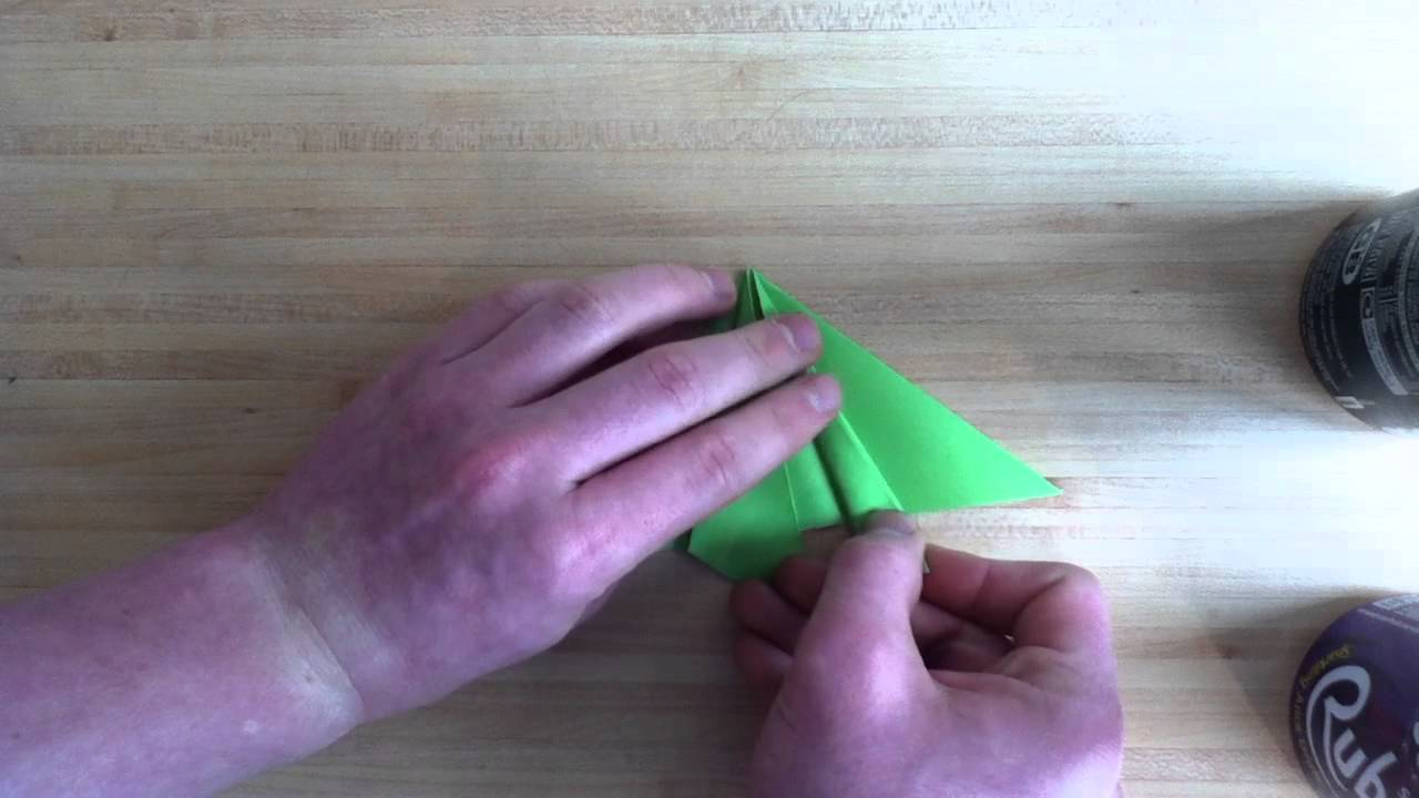 grenouille en papier pliage origami grenouille. Black Bedroom Furniture Sets. Home Design Ideas