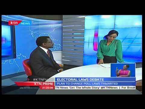 KTN Prime: Siaya Senator James Orengo explaining the chaotic parliamentary sitting for Election laws