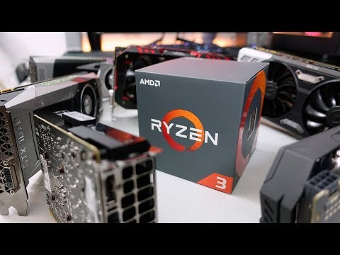How much GPU can Ryzen 3 handle? 6 cards tested with 1200 & 1300X!