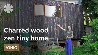 Japanese-inspired Wood-clad  Legal  Tiny Home In Ohio Small Town