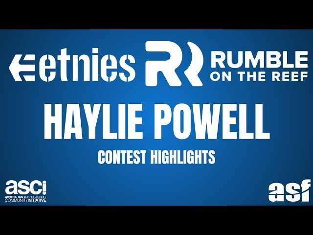 QLD Womens Champion - Haylie Powell - Etnies Rumble on the Reef 2018