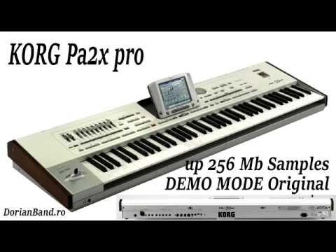 Korg PA2X Pro Professional Arranger Keyboard [Factory Demo Songs] 17.05.2016 !!!