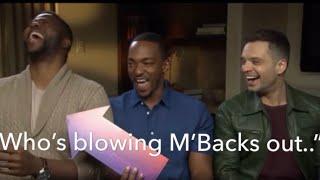 Anthony Mackie and Sebastian Stan Teasing Winston Duke MBaku For 1 Minute