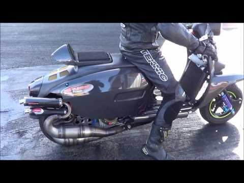 PM Tunings Carbon Lambretta X2 Sprinter at Santa...