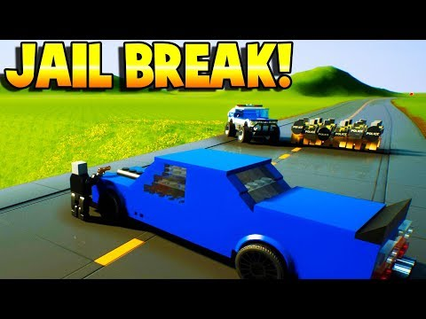 LEGO JAILBREAK! COPS VS ROBBERS! - Brick Rigs Gameplay - LEGO TOY POLICE CARS, TRAINS AND TRUCKS!