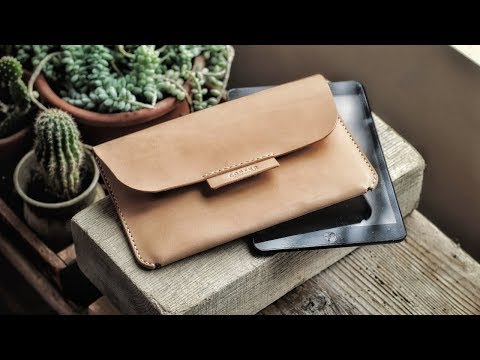 Making a Leather iPad Case with HIDDEN CLOSURE