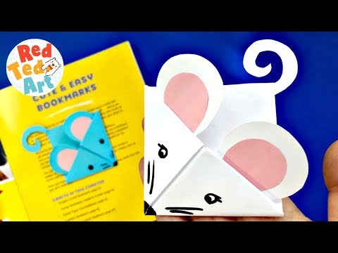 Easy Mouse Corner Bookmark Craft   DIY Mouse Mice Rats Ideas