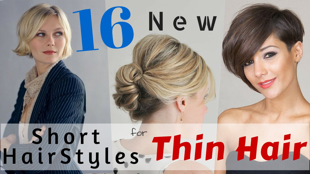 16 Short HairStyles for Thin Hair 2015 - YouTube