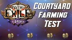 [3.7] Currency Farming Test - 100 Courtyard Maps - Path of Exile Legion