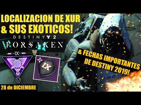 Destiny 2: Ultimo Xur del Año & lo que llegará en 2019! | Localización de Xur, Valor X3, Exóticos! thumbnail