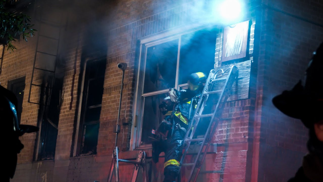 **4th of July Fireworks Burn Apartment** Fire out the Windows - [ Manhattan 10-75 box 1788 ]