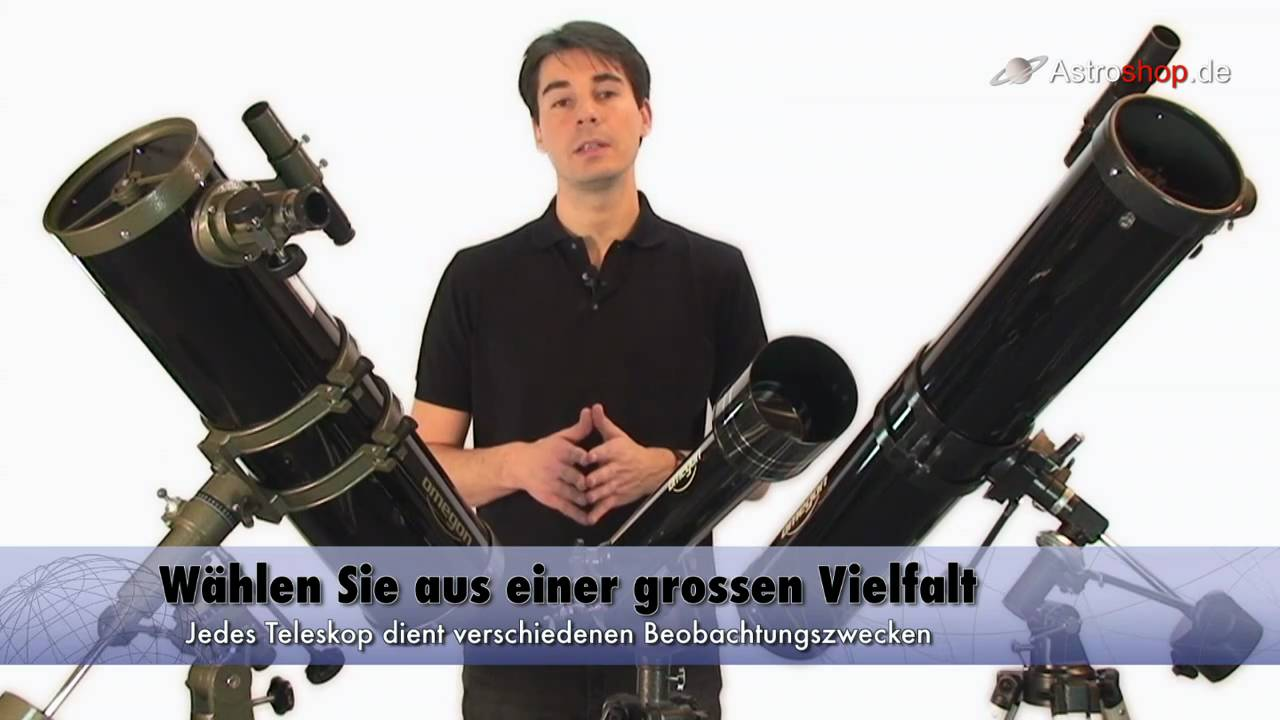 Omegon teleskope bei astroshop youtube