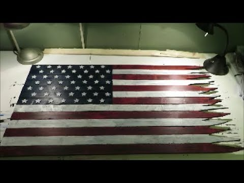 American flag craft project