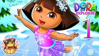Dora Saves the Snow Princess - Part-1 - Snowy Forest [PS2 HD] Gameplay - No commentary