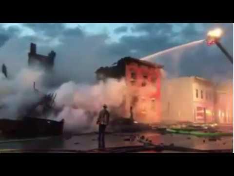 Amateur US blacksmith burns down buildings : Cohoes fire