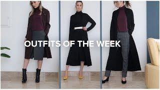 OUTFITS OF THE WEEK | Fall/Winter Workday Outfits | ttsandra