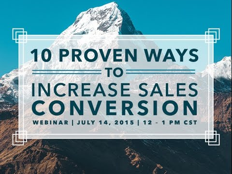 10 Proven Ways to Increase Sales Conversion