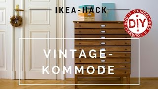 How to: IKEA-Hack Vintagekommode I DIY-Inspirationen Homemade by Patricia Morgenthaler