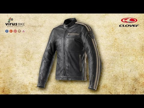 the best attitude 29a19 abaf6 Clover Rebel giacca moto in pelle vintage