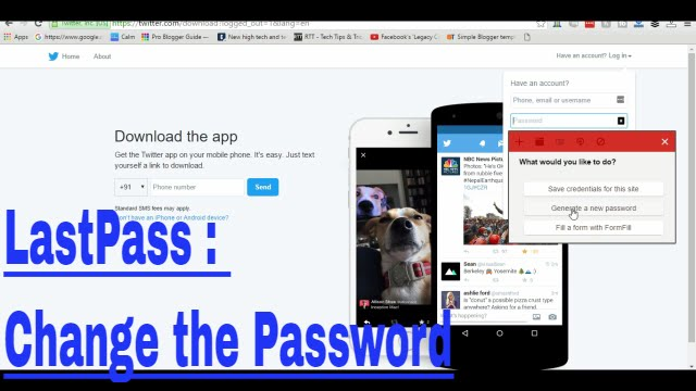 LastPass : Generate a New Password automatically - YouTube