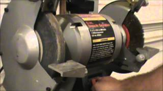 How to dress a grinding wheel