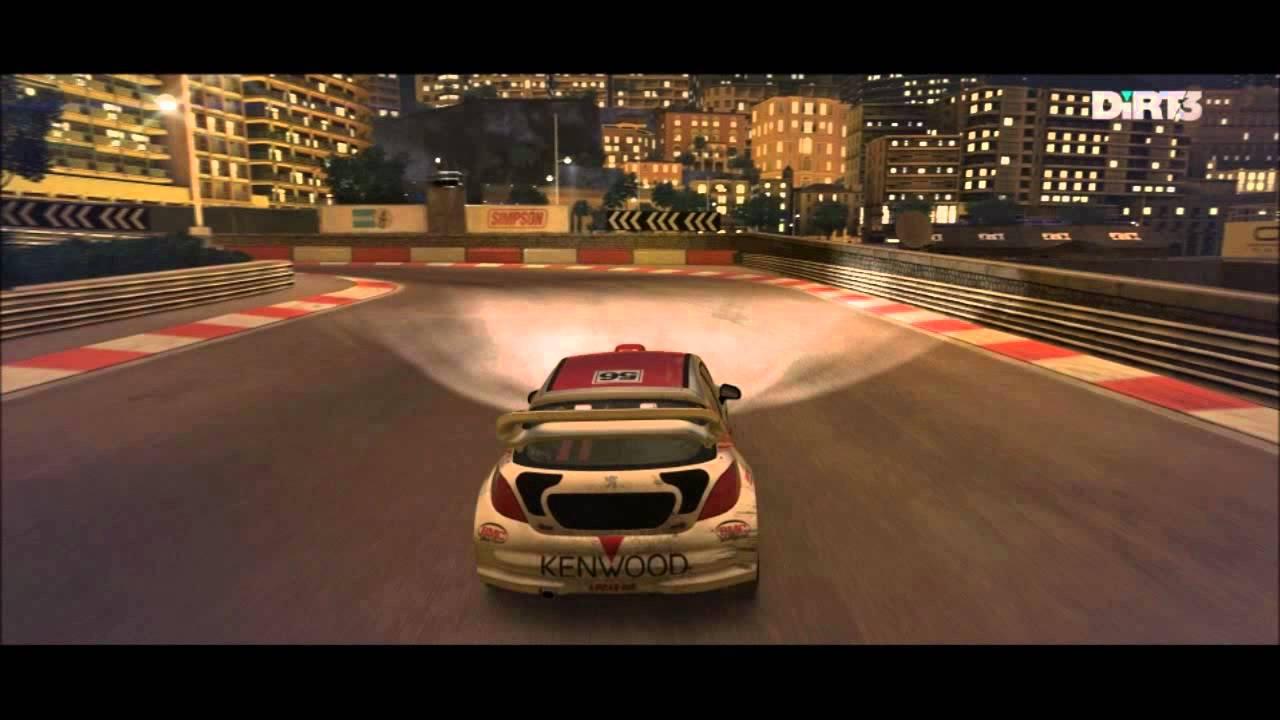 dirt 3 - gameplay cinematic - peugeot 207 t16 4x4 - rallycross