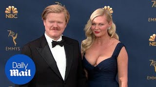 Kirsten Dunst & Jesse Plemons arrive on the Emmys red carpet