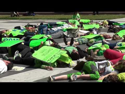 MayDay 2013 Flash Mob 'Die-In' - Lyme Disease Protest