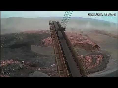 Vídeo mostra momento em que lama avança sobre Brumadinho