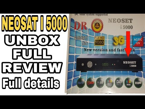 NEOSAT I 5000 3G RECEIVER UNBOXING AND FULL REVIEW BY DISH GROUP