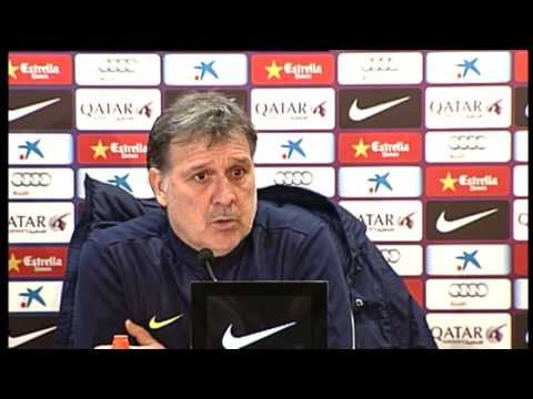 Tata Martino and Barça players speaking 1st-8th February
