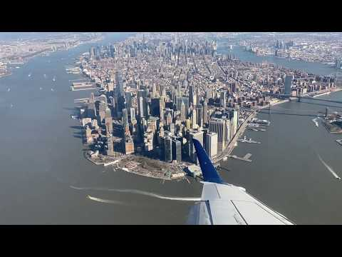 Landing in LGA with Amazing Views of NYC 4k