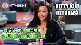 Фото KITTY KUO RETURNS! $5/5+50 Big Blind Ante NLH! ♠ Live At The Bike!