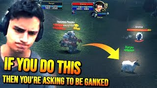 Xaryu gets GANKED by a MAGE -- Procceeds to gank him back while giving him TIPS!