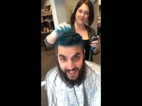 How to spray dye your hair, sparkle your beard, and raise money for ...