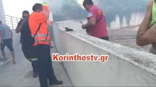 Κινδύνεψαν σπίτια από φωτιά στην περιοχή Κυρά Βρύση στα Ίσθμια