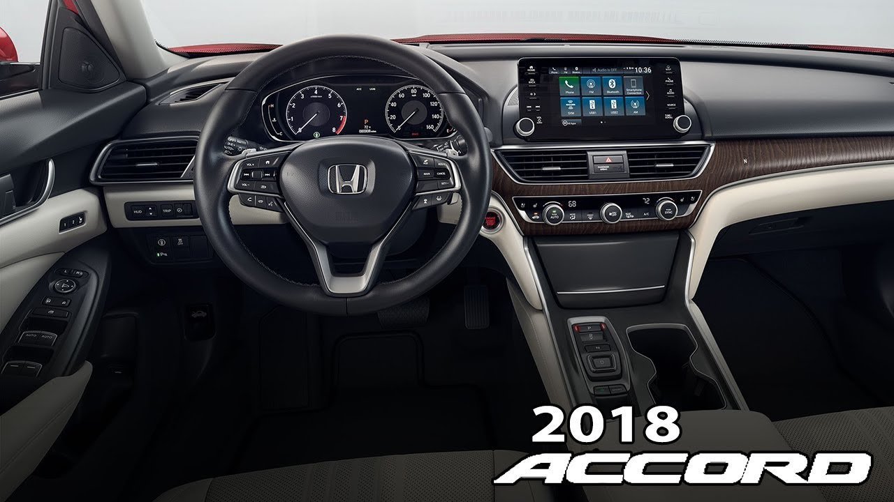 2018 Honda Accord Touring Interior and Head Up-Display - YouTube