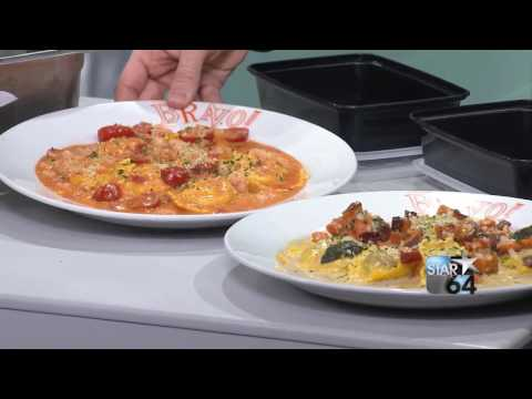 Chef Maynor Hernandez whips up lobster ravioli for National Ravioli Day