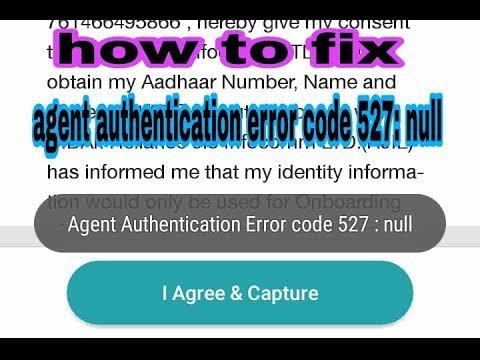 Fix agent authentication error code 527:null