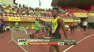 400 METRES MEN: IAAF WORLD U20 CHAMPIONSHIPS TAMPERE 2018 - Christopher TAYLOR