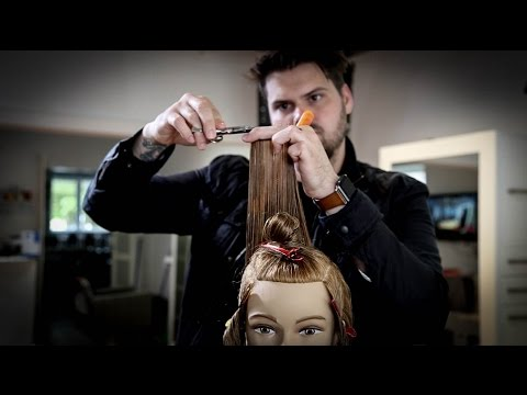 Modern Take on The Classic 180 Degree Layered Haircut - Layered Haircut Tutorial | MATT BECK VLOG 39