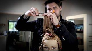 Modern Take on The Classic 180 Degree Layered Haircut - Layered Haircut Tutorial   MATT BECK VLOG 39