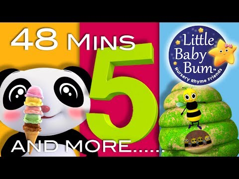 Number 5 Song  Plus Lots More Nursery Rhymes  48 Minutes Compilation from LittleBaBum!