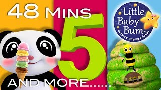 Number 5 Song | Plus Lots More Nursery Rhymes | 48 Minutes Compilation from Little Baby Bum