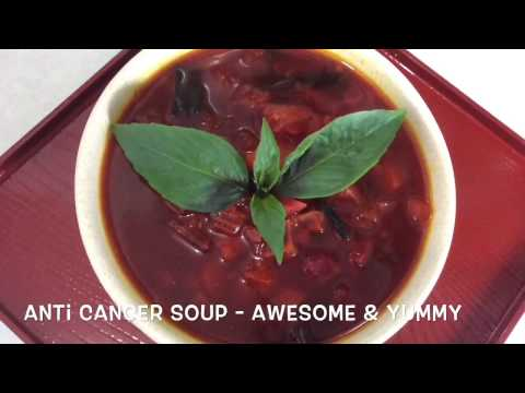 EXOTIC CANCER FIGHTING SOUP - SUPERFOODS with TURMERIC & virgin COCONUT  OIL & slimming soup