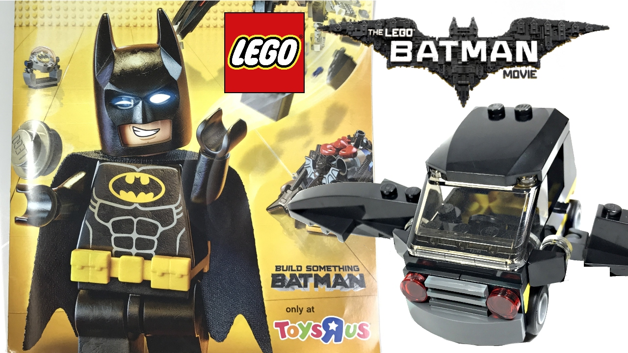 lego batman movie bat car toys r us review free 2017 set youtube
